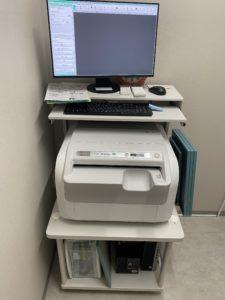 新たに骨塩定量(骨粗しょう症)の検査機器が導入されました。